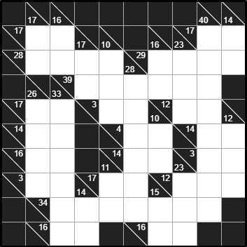 Solve Kakuro 10x10 #3 Very Difficult online