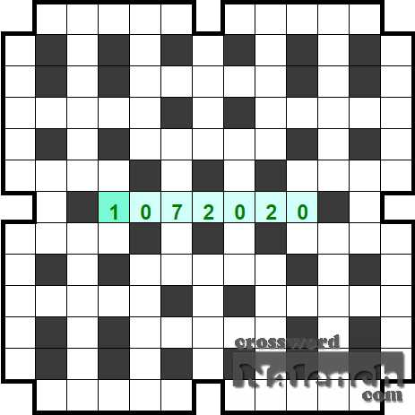 Solve Number Crossword 13x13 01.07 online