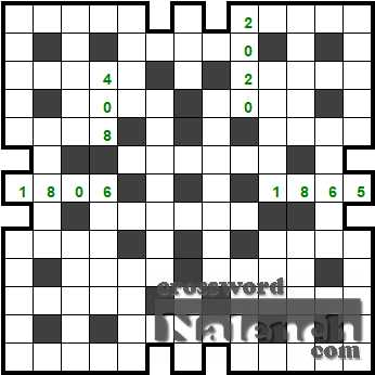 Solve Crossnumber 13x13 04.08 online